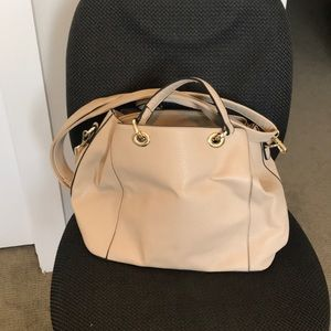 Handbags - Beige Vegan Leather Purse